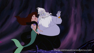 Triton and Vanessa as Ursula and Ariel