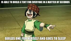 Avatar: The Last Airbender wallpaper containing anime titled Trolling Toph