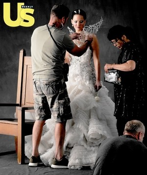 US Weekly - Behind the Scenes - Jennifer Lawrence - Catching Fire