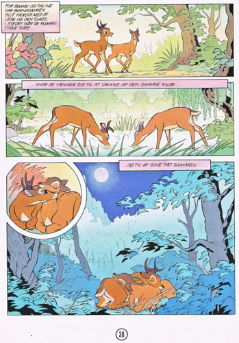 Walt Disney Characters karatasi la kupamba ukuta containing anime titled Walt Disney Movie Comics - Bambi (Danish Edition)