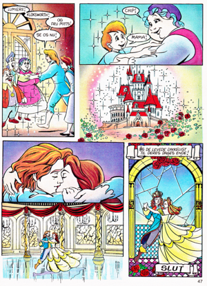 Walt ディズニー Movie Comics - Beauty and the Beast (Danish Edition)