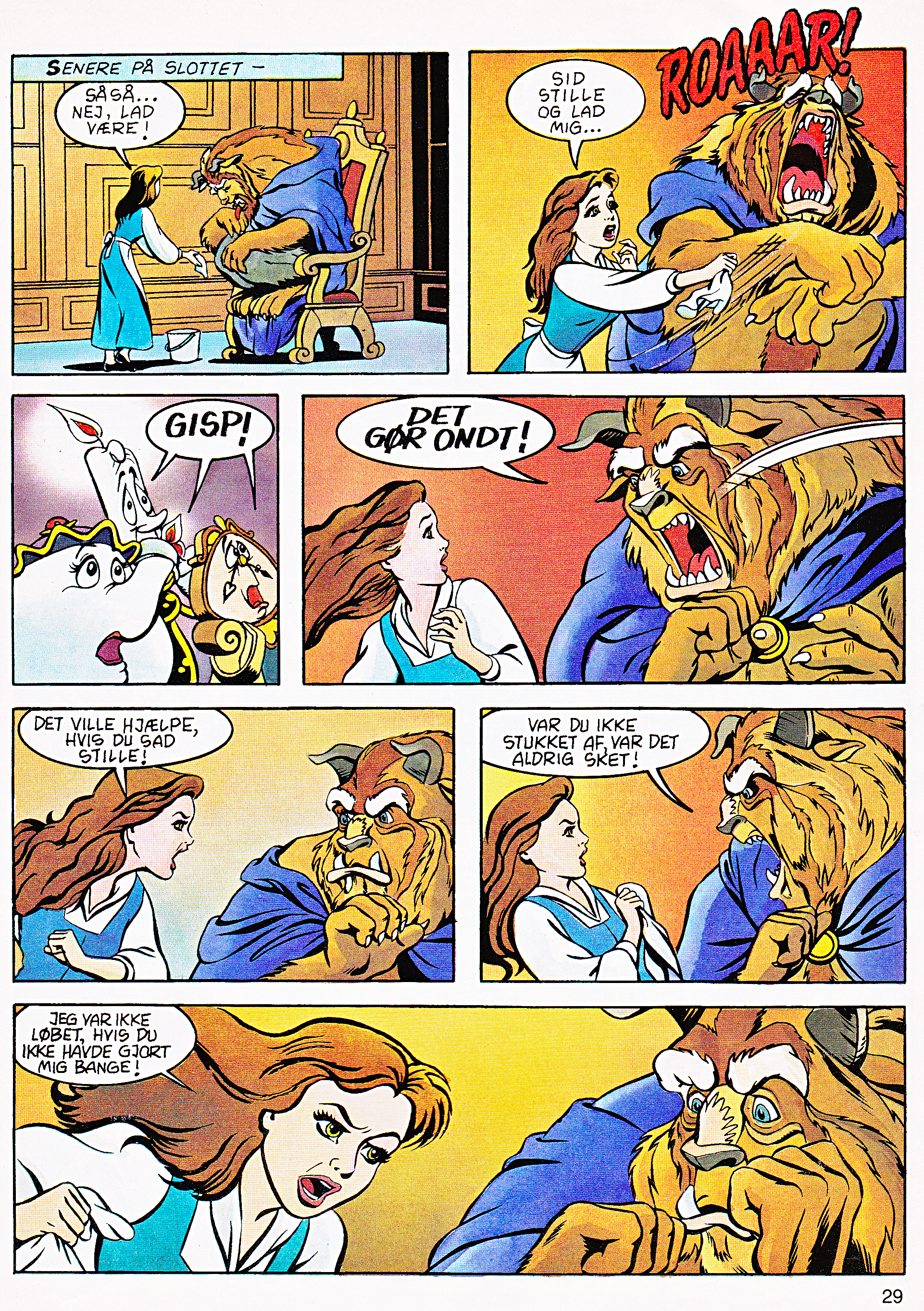 Walt 迪士尼 Movie Comics - Beauty and the Beast (Danish Edition)