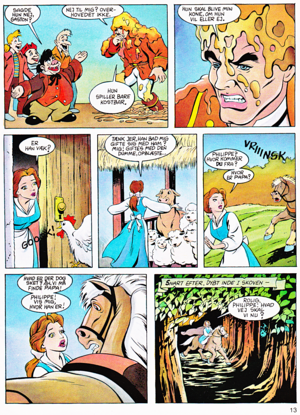 Walt Disney Movie Comics - Beauty and the Beast (Danish Edition)