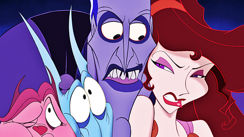 Walt Disney Characters wallpaper probably with anime entitled Walt Disney Screencaps - Pain, Panic, Hades & Megara