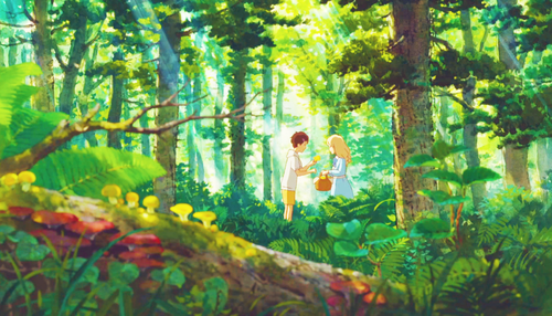 Studio Ghibli 壁纸 with a 葡萄 arbor, a beech, and a mahogany called When Marnie Was There Scenery