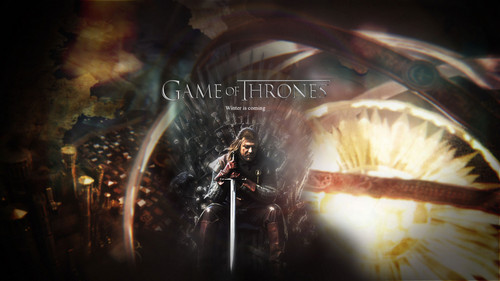 Game of Thrones Hintergrund titled Winter is Coming