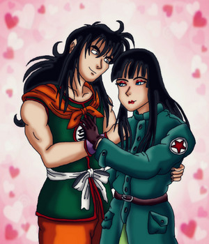 Yamcha and Mai door kaitlynrager