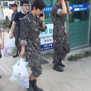 Yoo Seung Ho in military