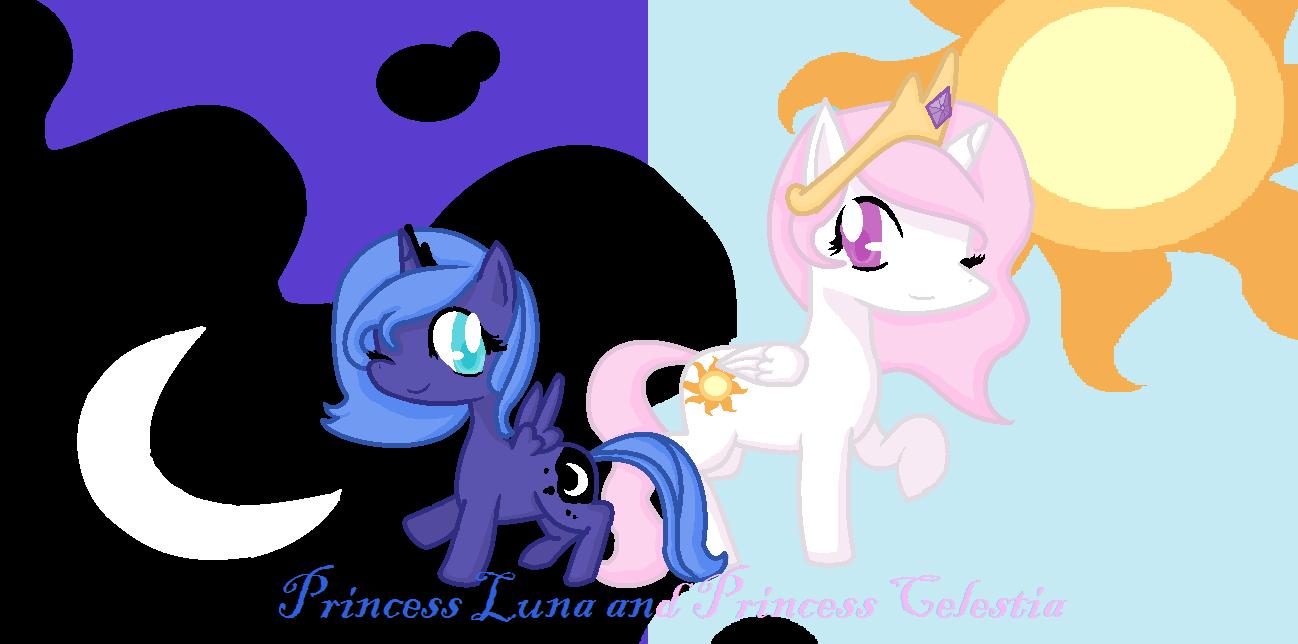 Young Luna And Celestia