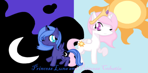 My Little pony - Freundschaft ist Magie Hintergrund containing Anime entitled Young Luna And Celestia