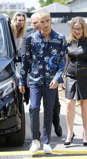 Zayn at Louis Vuitton menswear show