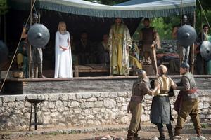 daenerys and jorah with hizdahr