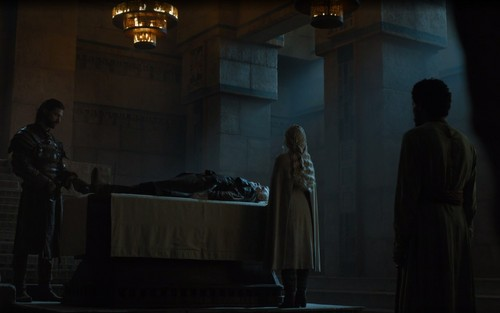 Daenerys Targaryen fond d'écran containing a drawing room called daenerys with barristan and daario