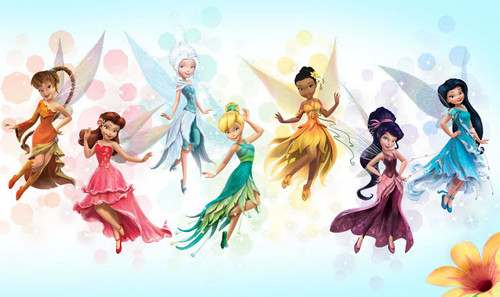 Tinkerbell پیپر وال titled fairies
