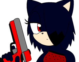 laly and her gun