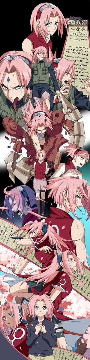 long time path of sakura in whole naruto series till yet
