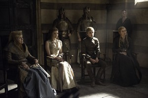 margaery and tommen with olenna and cersei