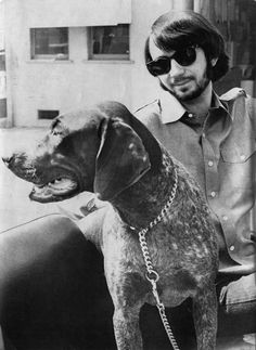 mike with his dog.