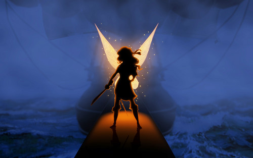 Tinkerbell پیپر وال titled poster