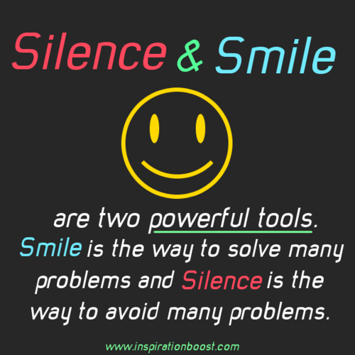 Quotes and Icons wallpaper entitled silence-and-smile