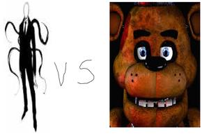 slender man vs freddy fazzbear