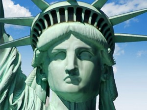 this is the statue of liberty it is in new york i think