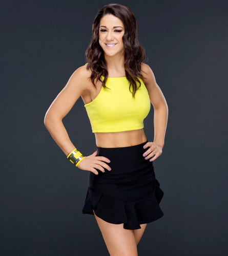 wwe divas fondo de pantalla possibly containing bare legs, pantalones calientes, and a playsuit, traje de juguete entitled Bayley