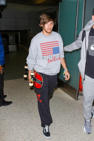 Louis at the LAX airport