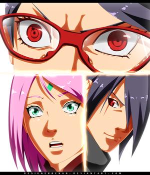 *Sarada's Fury : Sakura Sasuke Impressed*
