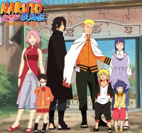 Naruto Uzumaki (shippuuden) fond d'écran probably containing an outerwear titled *Sasuke / Naruto Family*