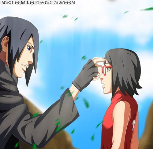 Sasuke Uchiha wallpaper with animê titled *Sasuke / Sarada : Until We Meet Again*