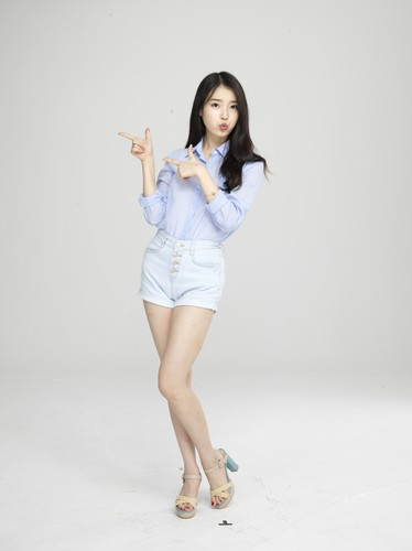 IU wallpaper probably containing a playsuit called [UHQ] IU for Cable TV