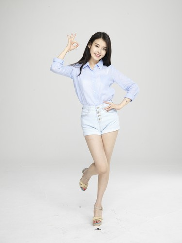 IU wallpaper probably with a playsuit, a well dressed person, and a nightwear entitled [UHQ] IU for Cable TV