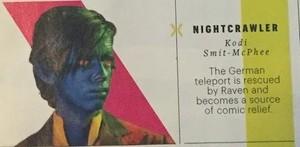 'X-men: Apocalypse' Kodi Smit McPhee as Nightcrawler