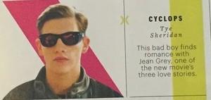 'X-men: Apocalypse' Tye Sheridan as Cyclops