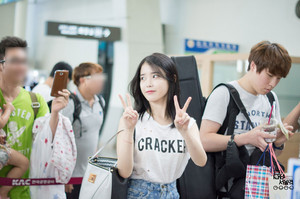 140831 ইউ at Gimpo Airport Leaving for Jeju