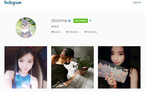 150701 ‪‎IU‬ has reached ONE MILLION followers on Instagram!