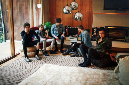 one direction wallpaper with a family room, a living room, and a drawing room titled 2016 Official 18-Month Calendars