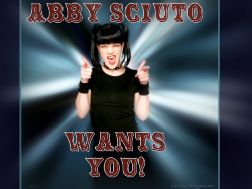 Abby Sciuto wallpaper probably with anime and a portrait entitled ABBY SCIUTO WANTS YOU!