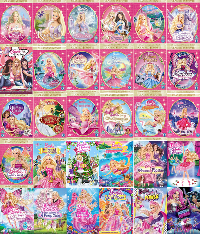 All of the barbie filmes so far
