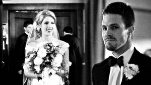 Alternate Universe Oliver and Felicity's Wedding fond d'écran