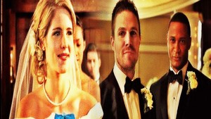 Alternate Universe Oliver and Felicity's Wedding वॉलपेपर