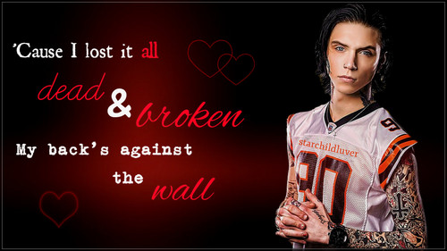 Andy Sixx wallpaper with a sign entitled Andy ~Lost it All