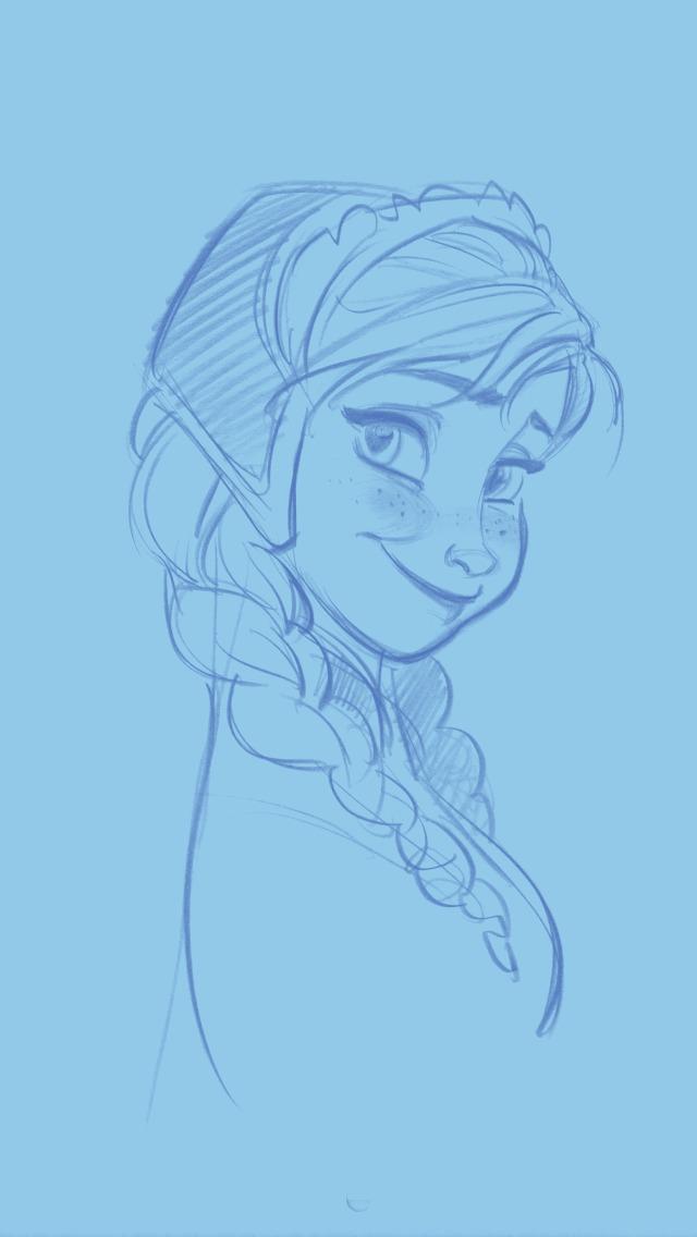 安娜简笔画步骤