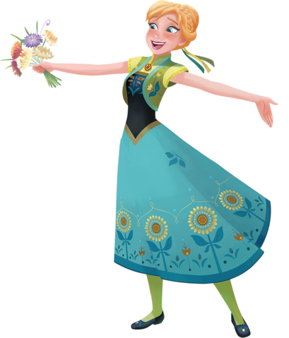 Frozen Fever Hintergrund with a bouquet entitled Anna