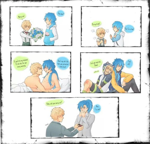 Yaoi wallpaper probably containing a newspaper and anime called Aoba ♥ Noiz