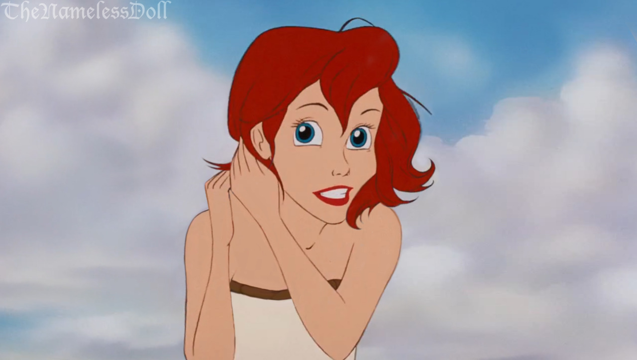 Ariel with short hair