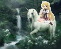 Asia Argento riding her beautiful unicorn - high-school-dxd fan art