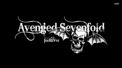 Heavy Metal Hintergrund with a sign called Avenged Sevenfold