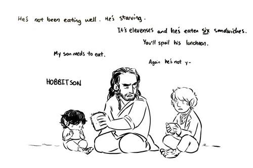 The Hobbit wallpaper called Baggin-shield Family